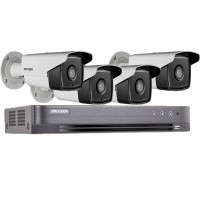 Sistem profesional HIKVISION 4 camere supraveghere exterior 5MP TURBO HD 40 m IR