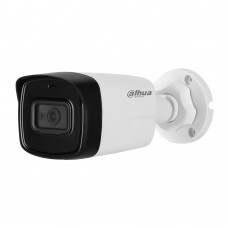 Camera bullet HDCVI Dahua HAC-HFW1200TL-A 2MP, 3.6mm, IR 80m, IP67, microfon integrat