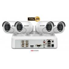 Sistem supraveghere video HIKVISION 4 camere  Turbo HD 720P 1MP, IR 20M