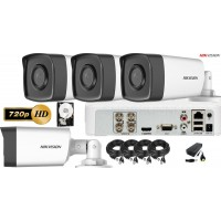 Kit complet supraveghere video HIKVISION 4 Camere HD 720P, IR 40m , HDD 500 GB