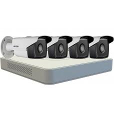 Sistem Supraveghere Hikvision  4 Camere 720P, IR 40