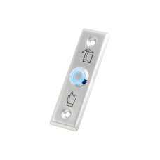 Buton de iesire NO/NC, incastrabil, din inox, cu LED CSB-28L