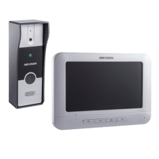 Kit videointerfon analogic 7'', conectare 4 fire - HIKVISION DS-KIS202