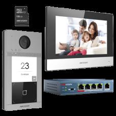 KIT videointerfon pentru o familie, Wi-Fi 2.4Ghz, monitor 7 inch - HIKVISION