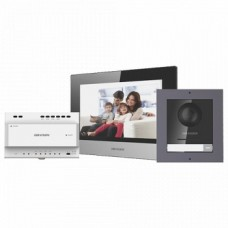 Kit videointerfon IP 7inch, conectare 2 fire - HIKVISION DS-KIS702
