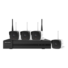KIT WIFI 4 camere Bullet 2MP + NVR - HiWatch by Hikvision