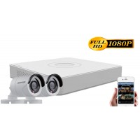 Sistem supraveghere video Hikvision  2 camere 2MP 1080P, FULL HD, IR20m
