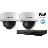 Sistem supraveghere Hikvision 2camere IP de interior,4MP(2K),IR 30m