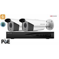Sistem supraveghere video Hikvision 2 camere IP de exterior, 6MP(3K), SD-card, IR 50m