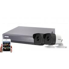 Sistem supraveghere Hikvision 2 camere  5MPX, IR40