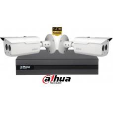 Sistem supraveghere Dahua 2 camere,2MP Full HD 1080P, IR 80m