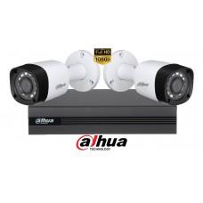 Sistem supraveghere Dahua2 camere, 2MP Full HD 1080P, IR 20m