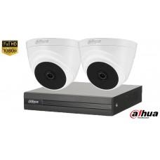 Sistem supraveghere video Dahua2 camere FullHD, IR 20M