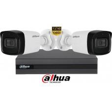 Sistem supraveghere Dahua2 camere, 2MP Full HD 1080P, IR 40m