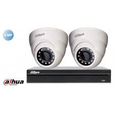 Sistem supraveghere video Dahua2 camere 4MP(2K), IR 20M