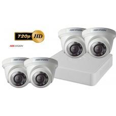 Sistem supraveghere video Hikvision 4 camere de interior TurboHD 720P, IR 20M