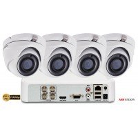 Sistem supraveghere Hikvision 4 camere Ultra Low-Light 2MP Full HD, IR 30M