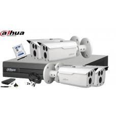 Kit supraveghere DAHUA4 camere 1080P, IR80, HDD 500GB