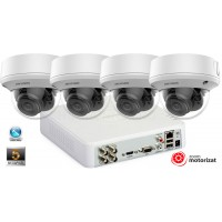 Sistem supraveghere video 4 camere Hikvision 5MP(2K+), Zoom Motorizat, IR 40M