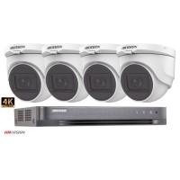 Sistem supraveghere Hikvision 4 camere de interior,4 in 1, 8MP(4K), IR 60m