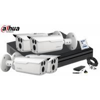 Kit supraveghere DAHUA 4 camere 4 MP, IR80, HDD 500GB