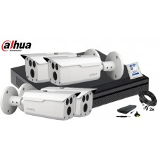 Kit supraveghere DAHUA 4 camere 4 MP, IR80, HDD 1TB