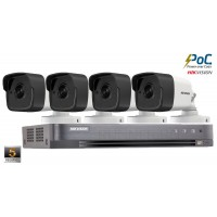 Sistem supraveghere Hikvision 4camere PoC5MP(2K+), IR 20M