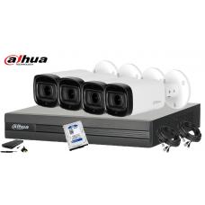 Kit supraveghere DAHUA 4 camere FullHD, IR60, HDD 500GB
