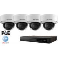 Sistem supraveghere Hikvision 4camere IP de interior,4MP(2K),IR 30m