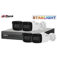 Sistem supraveghere DAHUA 4 camere FullHD -STARLIGHT- IR 30 M