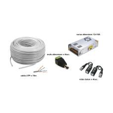Kit accesorii instalare pt 4 camere, 70m cablu UTP
