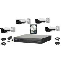Kit supraveghere DAHUA 4 camere FullHD,1080P,IR 40M, HDD 500 GB