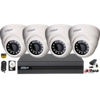 Kit complet supraveghere video Dahua 4camere FullHD, IR 30M