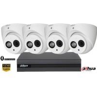 Sistem supraveghere video Dahua 4camere FullHD, IR 50M, microfon incorporat