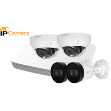 Sistem supraveghere video IP DAHUA 4 camere Full HD,IR 30