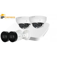 Sistem supraveghere video IP DAHUA 4 camere 4 MPX, IR 30