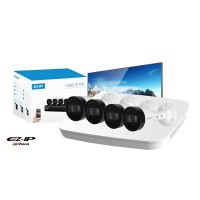 Kit supraveghere video IP complet, FULL HD, IR 30 metri, DAHUA , HDD 500 GB