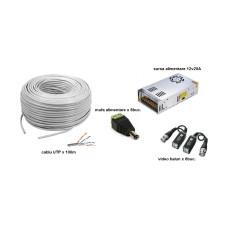 Kit accesorii instalare pt 8 camere, 100m cablu UTP