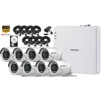 Kit supraveghere Hikvision 8 camere 1080P, IR 20, HDD 1TB
