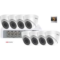 Sistem supraveghere video 8 camere de interior Hikvision 5MP(2K+), IR 20M
