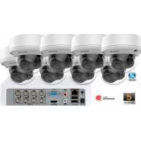 Sistem supraveghere video Hikvision 8 camere de interior 5MP(2K+), Zoom Motorizat, IR40M