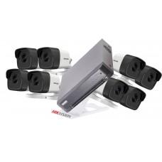 Sistem supraveghere Hikvision 8 camere  5 MP, IR 40