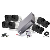 Kit supraveghere Hikvision 8 camere 5 MP, IR 40, HDD 2TB