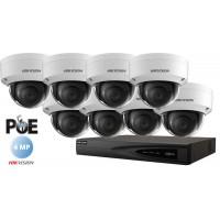 Sistem supraveghere Hikvision 8 camere IP de interior,4MP(2K),IR 30m