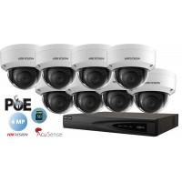 Sistem supraveghere video Hikvision 8 camere IP de interior,AcuSense,SD-card,4MP(2K),IR 30m