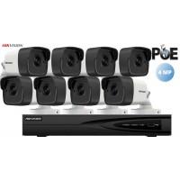 Sistem supraveghere video Hikvision 8 camere IP de exterior,4MP(2K),IR 30m