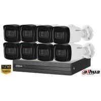 Sistem supraveghere Dahua8 camere, 2MP Full HD 1080P, IR 40m