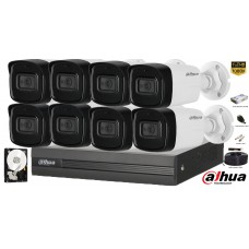 Kit complet supraveghere Dahua 8 camere, 2MP Full HD 1080P, IR 40m