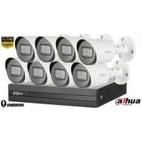 Sistem supraveghere Dahua8 camere Microfon Incorporat, 2MP Full HD 1080P, IR 30m