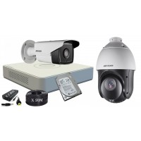 Kit supraveghere Hikvision FullHD, Speed-Dome,IR 100m, HDD 500GB